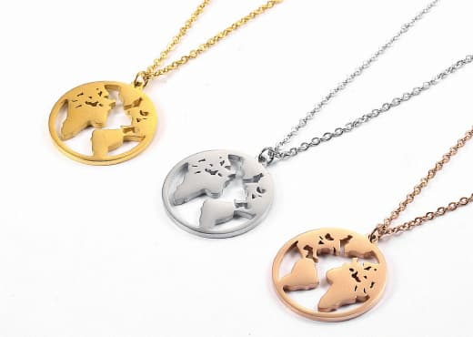 Collier Globe Trotter